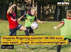 Vlaanderen voorziet 186.000 euro voor sport-, jeugd- en cultuurverenigingen in Lede