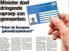 Europese gehandicaptenkaart